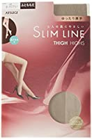 (アツギ)ATSUGI ストッキング SLIM LINE(スリムライン) 厚手 ふともも丈ストッキング クチゴムゆったり〈3足組〉 FT5550 049 ロータスグレー 22~25cm