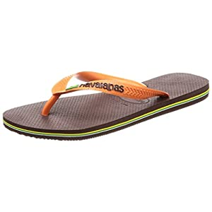 [ハワイアナス] ビーチサンダル BRASIL LOGO dark brown/orange Others 39/40(25.5~26.0 cm)