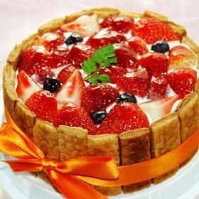 京都二条寺町ジェニアル ミックスベリーのケーキ 直径15cm 甘さ控えめ(食後のデザートに)