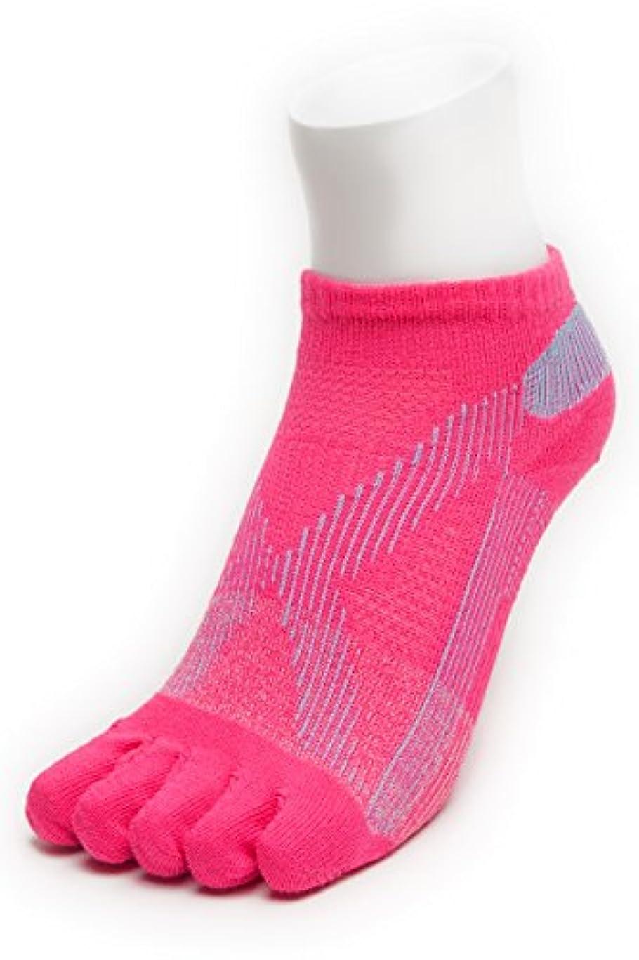手足悪行ピューAIRエアーバリエ 5本指ソックス (22~25㎝?ピンク)テーピング ソックス 歩きやすく疲れにくい靴下 【エコノレッグ】【レディース 靴下】 (ピンク)