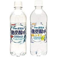 伊賀の天然水強炭酸水・レモン 500mlPET 2種各12本 1箱:24本