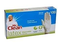 Mr。Cleanラテックス使い捨て手袋white100.0each、2PK