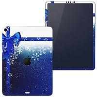 igsticker iPad Pro 11 inch インチ 対応 apple iPad Pro11 シール アップル アイパッド A1934 A1979 A1980 A2013 iPadPro11 全面スキンシール フル 背面 側面 正面 液晶 タブレットケース ステッカー タブレット 保護シール 人気 青 ブルー リボン 雪 結晶 冬 008486