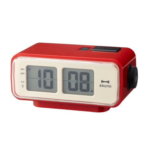 BRUNO  LCDレトロアラームクロック S レッド BCR003-RD