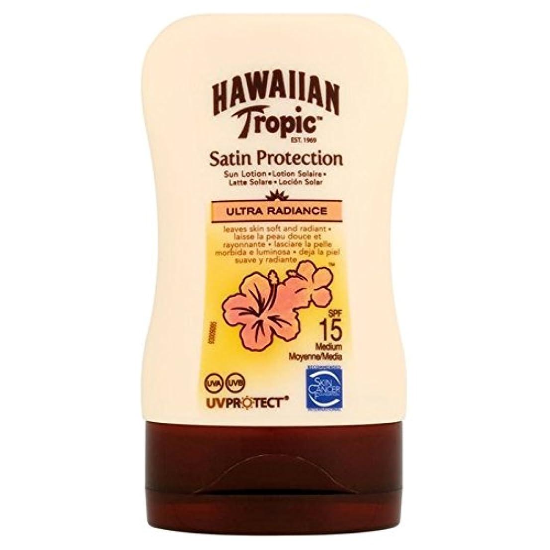 敬意を表して発疹シェル南国ハワイの保護ローション15超放射輝度100ミリリットル x4 - Hawaiian Tropic Protective Lotion SPF15 Ultra Radiance 100ml (Pack of 4) [並行輸入品]