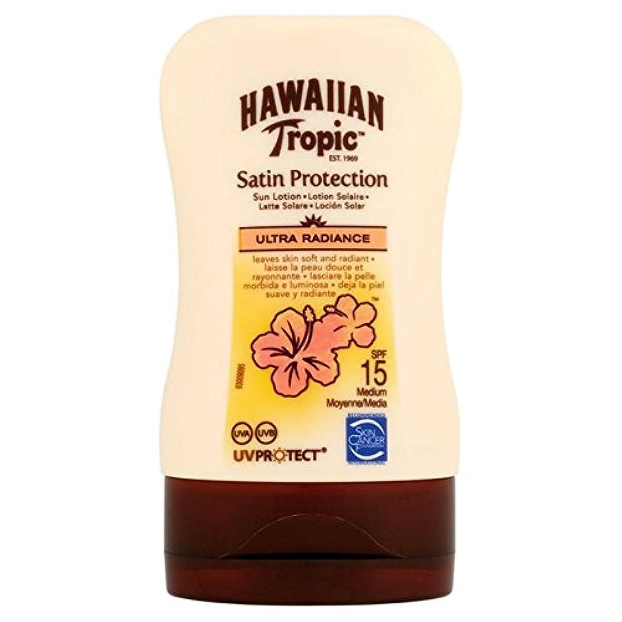 荒野歯違反Hawaiian Tropic Protective Lotion SPF15 Ultra Radiance 100ml - 南国ハワイの保護ローション15超放射輝度100ミリリットル [並行輸入品]