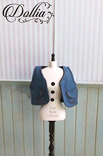 (ドーリア)Dollia ブライス 1/6ドール用 アウトフィット デニムベスト ブルー ネオブライス ドール 人形 (ベスト)