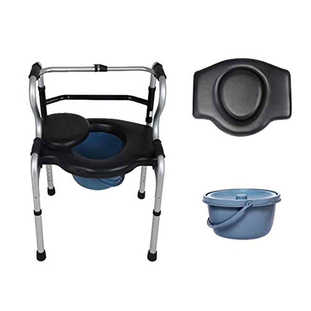 無心に渡って悪化する便器移動式椅子、シャワーの移動椅子の浴室の洗面所の腰掛けのためのFoldable移動式椅子