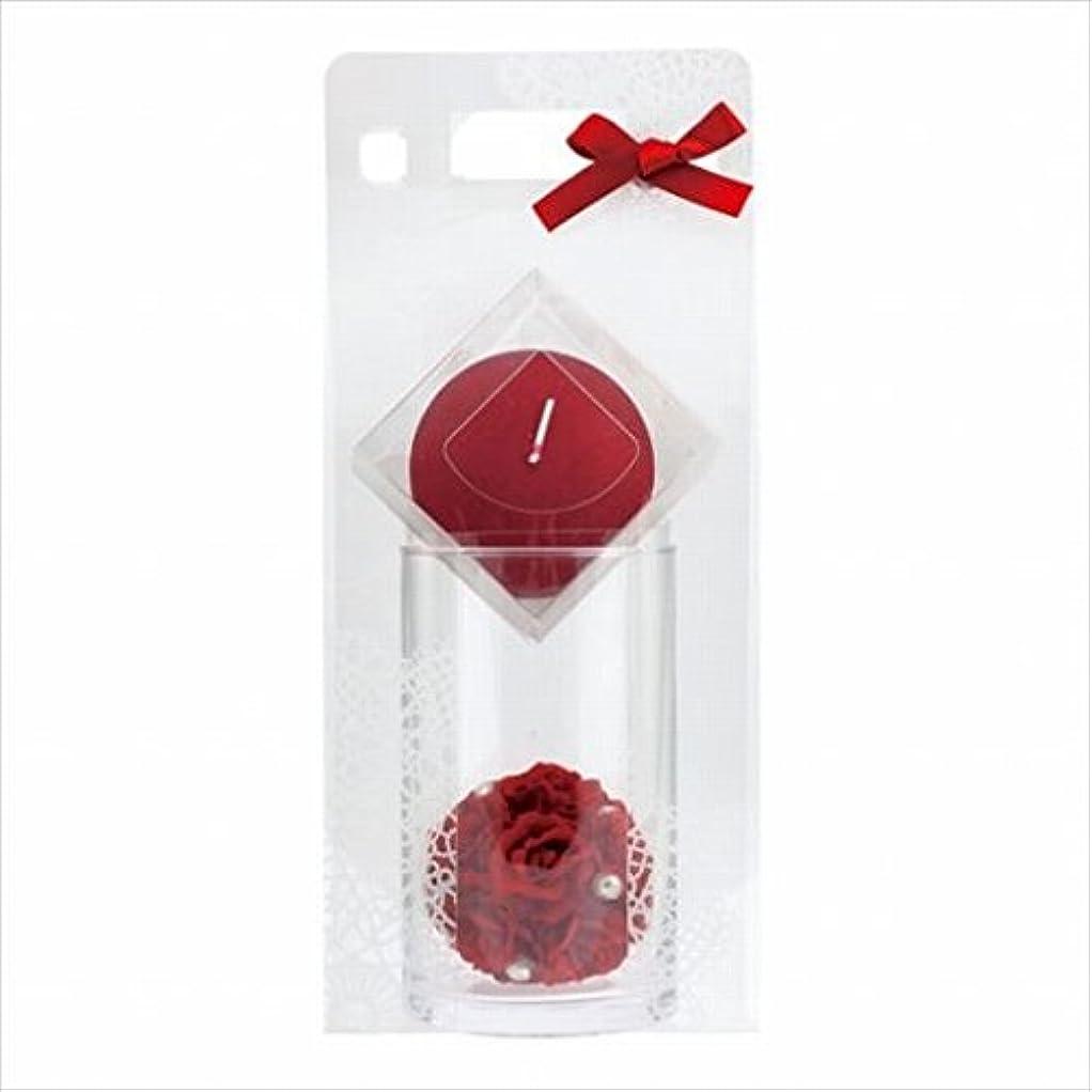 遺伝的コーン差し控えるカメヤマキャンドル(kameyama candle) ローズボールセット 「 ワインレッド 」 キャンドル ギフトセット