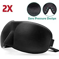 3D Memory Foam Eye Mask Blindfold Sleep Travel Shade Relax Cover Light Blinder Sleeping Aid Deep Orbital Design (2 Pack)