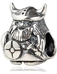 The Kiss Viking Warrior 925 Sterling Silver Bead Fits European Charm Bracelet