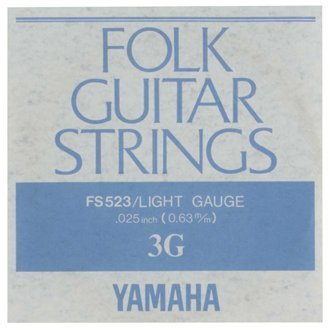 YAMAHA FS523 アコースティックギター用 バラ弦 3弦×6本セット