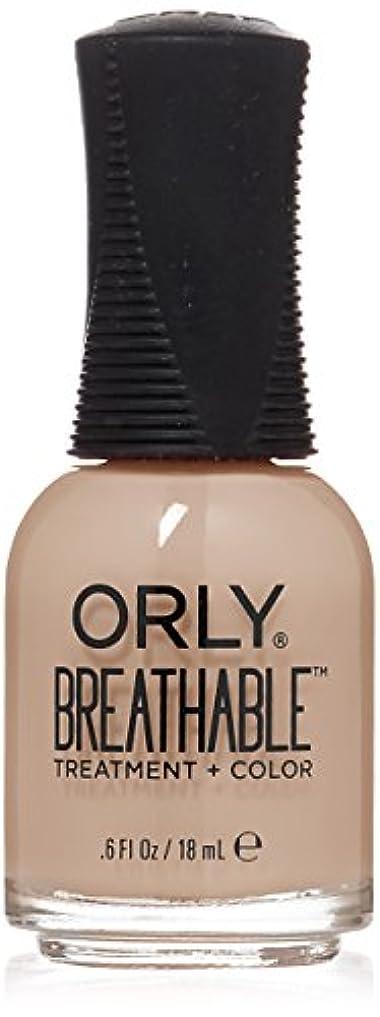 順応性ビーム発生器Orly Breathable Treatment + Color Nail Lacquer - Nourishing Nude - 0.6oz/18ml