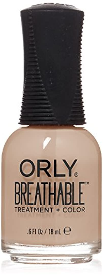 大学院泥棒一致するOrly Breathable Treatment + Color Nail Lacquer - Nourishing Nude - 0.6oz/18ml