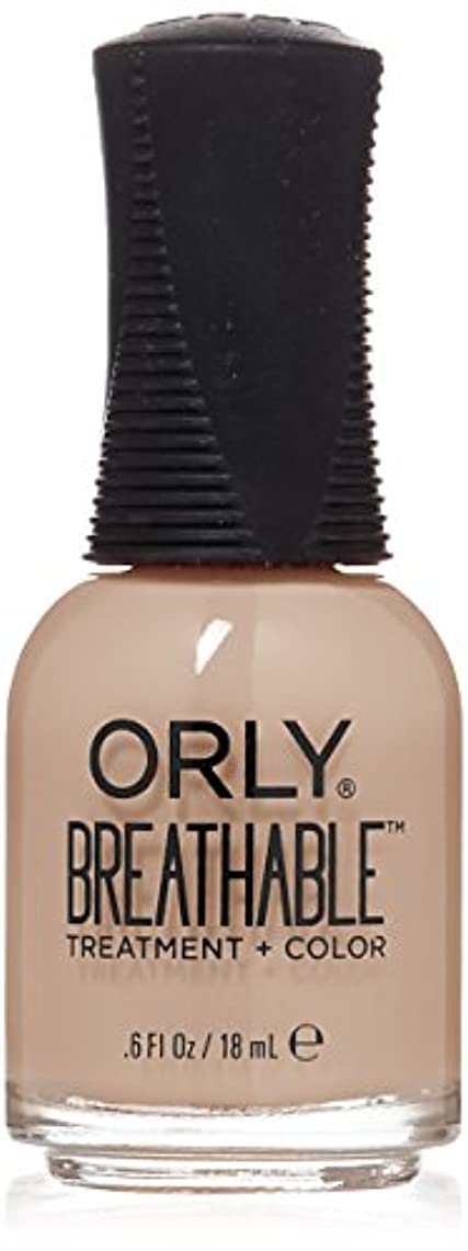 掃くレッドデート発表Orly Breathable Treatment + Color Nail Lacquer - Nourishing Nude - 0.6oz/18ml