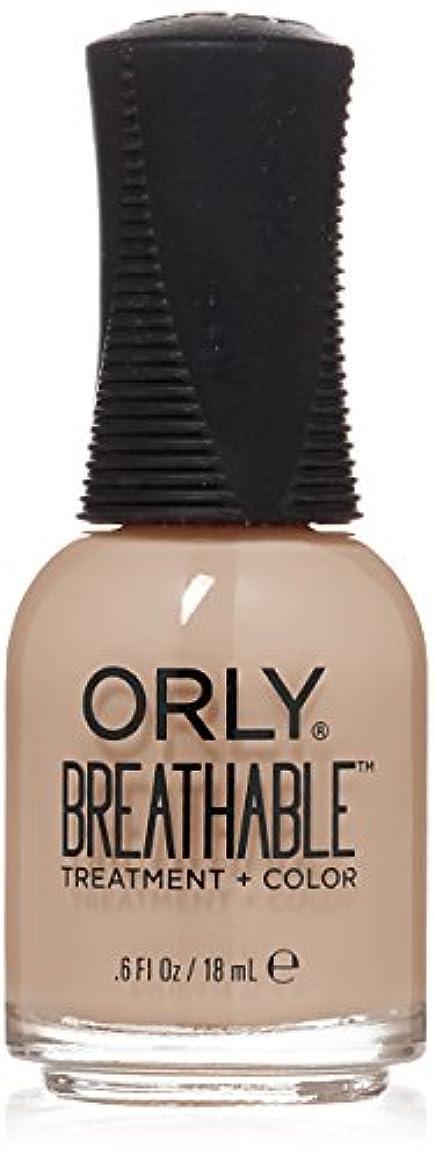 新しい意味教会警察Orly Breathable Treatment + Color Nail Lacquer - Nourishing Nude - 0.6oz/18ml
