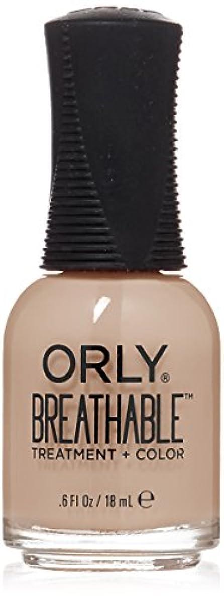 否認するくさびセッティングOrly Breathable Treatment + Color Nail Lacquer - Nourishing Nude - 0.6oz/18ml