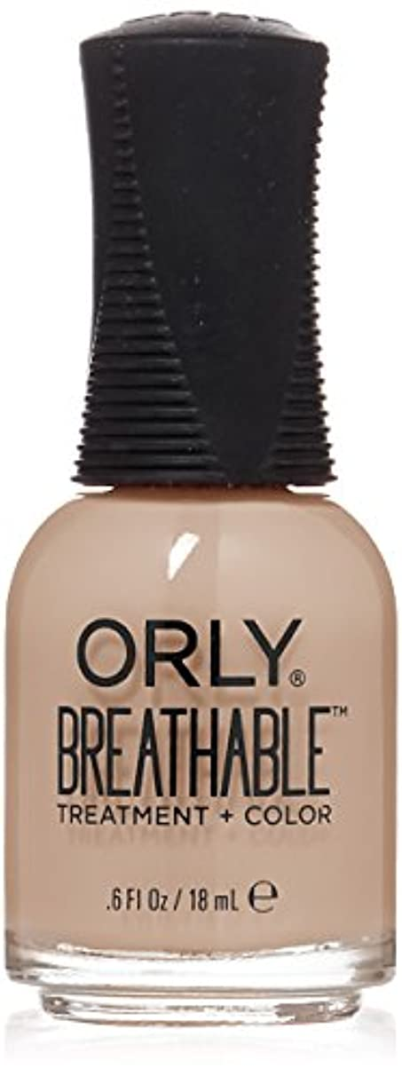 注入する句読点いたずらOrly Breathable Treatment + Color Nail Lacquer - Nourishing Nude - 0.6oz/18ml
