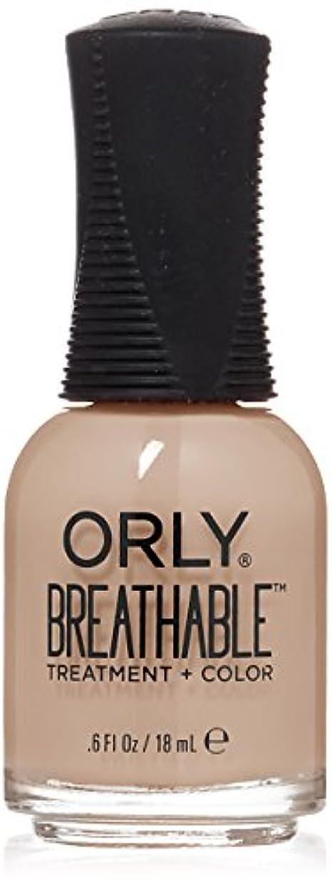 応用ロッジ付与Orly Breathable Treatment + Color Nail Lacquer - Nourishing Nude - 0.6oz/18ml