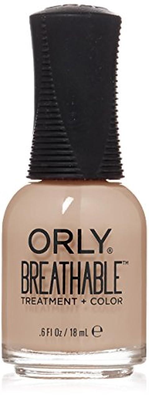 準備ができて被害者科学Orly Breathable Treatment + Color Nail Lacquer - Nourishing Nude - 0.6oz/18ml