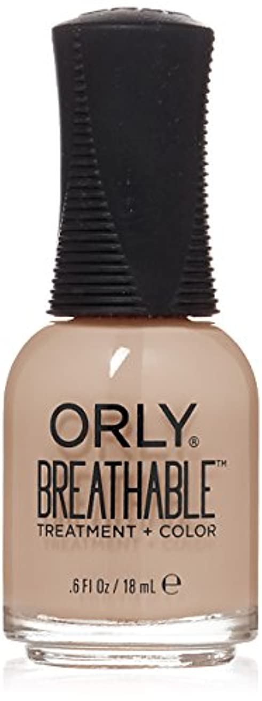 ベスビオ山系統的スローOrly Breathable Treatment + Color Nail Lacquer - Nourishing Nude - 0.6oz/18ml