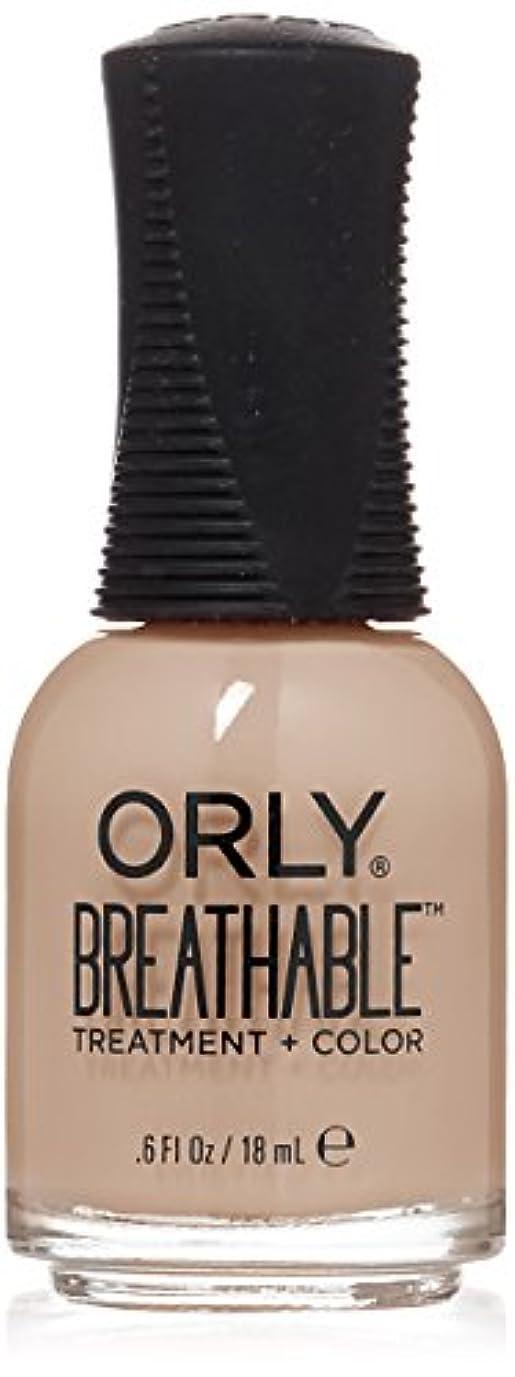 ワット罰気付くOrly Breathable Treatment + Color Nail Lacquer - Nourishing Nude - 0.6oz/18ml