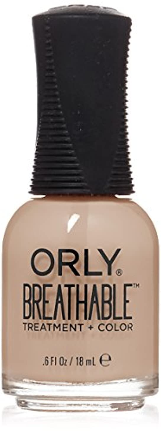 息苦しいテープ茎Orly Breathable Treatment + Color Nail Lacquer - Nourishing Nude - 0.6oz/18ml