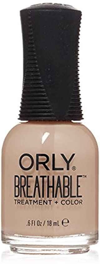 オセアニア矛盾するバルクOrly Breathable Treatment + Color Nail Lacquer - Nourishing Nude - 0.6oz/18ml
