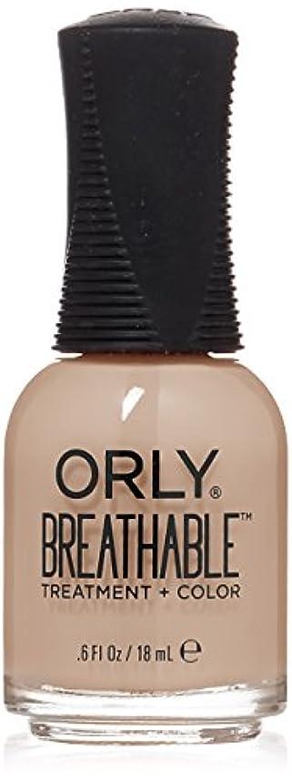 オセアニア矛盾するバルクOrly Breathable Treatment + Color Nail Lacquer - Nourishing Nude - 0.6oz/18ml