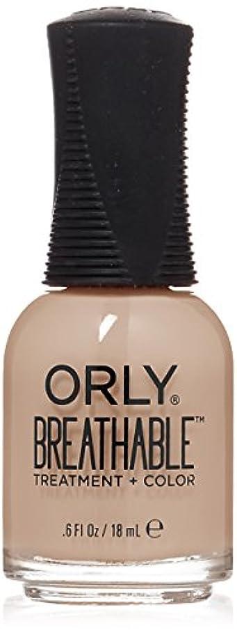 不承認帽子ネクタイOrly Breathable Treatment + Color Nail Lacquer - Nourishing Nude - 0.6oz/18ml