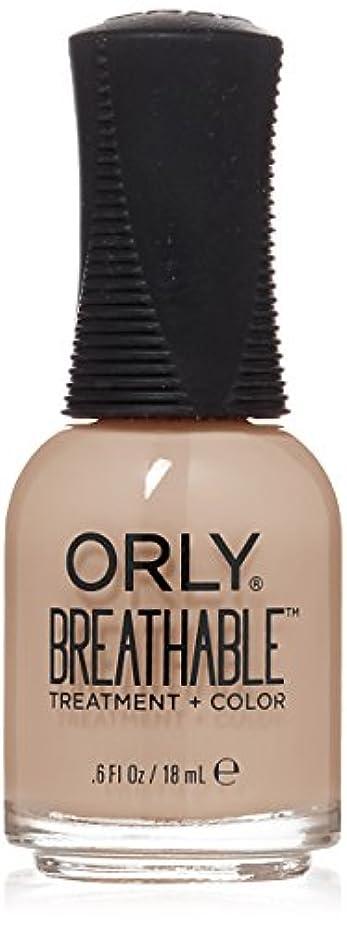 辛い後世酔うOrly Breathable Treatment + Color Nail Lacquer - Nourishing Nude - 0.6oz/18ml