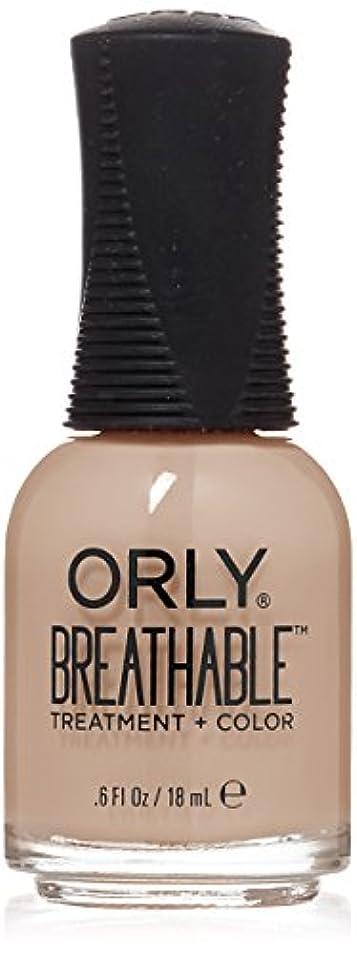 怖がらせる私たち自身女優Orly Breathable Treatment + Color Nail Lacquer - Nourishing Nude - 0.6oz/18ml