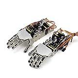 サインスマート(SainSmart)バイオニック ロボット5本指ハンド ロボット パーム グリップ リンケージ サーボ制御 左右手 (5DOF Humanoid Five Fingers Metal Manipulator Arm Left Hand with Servos for Robot DIY)