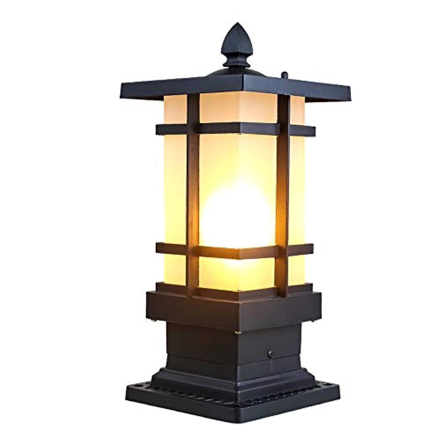 癒すやりがいのあるシネマPinjeer ヴィンテージクリエイティブE27屋外防水ガラスの列ランプブラックレトロ工業アルミポスト照明ドアストリートガーデンホームヴィラパーク照明装飾柱ライト