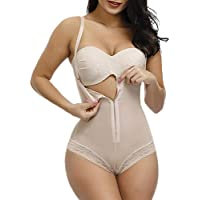 YOUCOO Women Seamless Firm Control Shapewear Faja Open Bust Bodysuit Body Shaper
