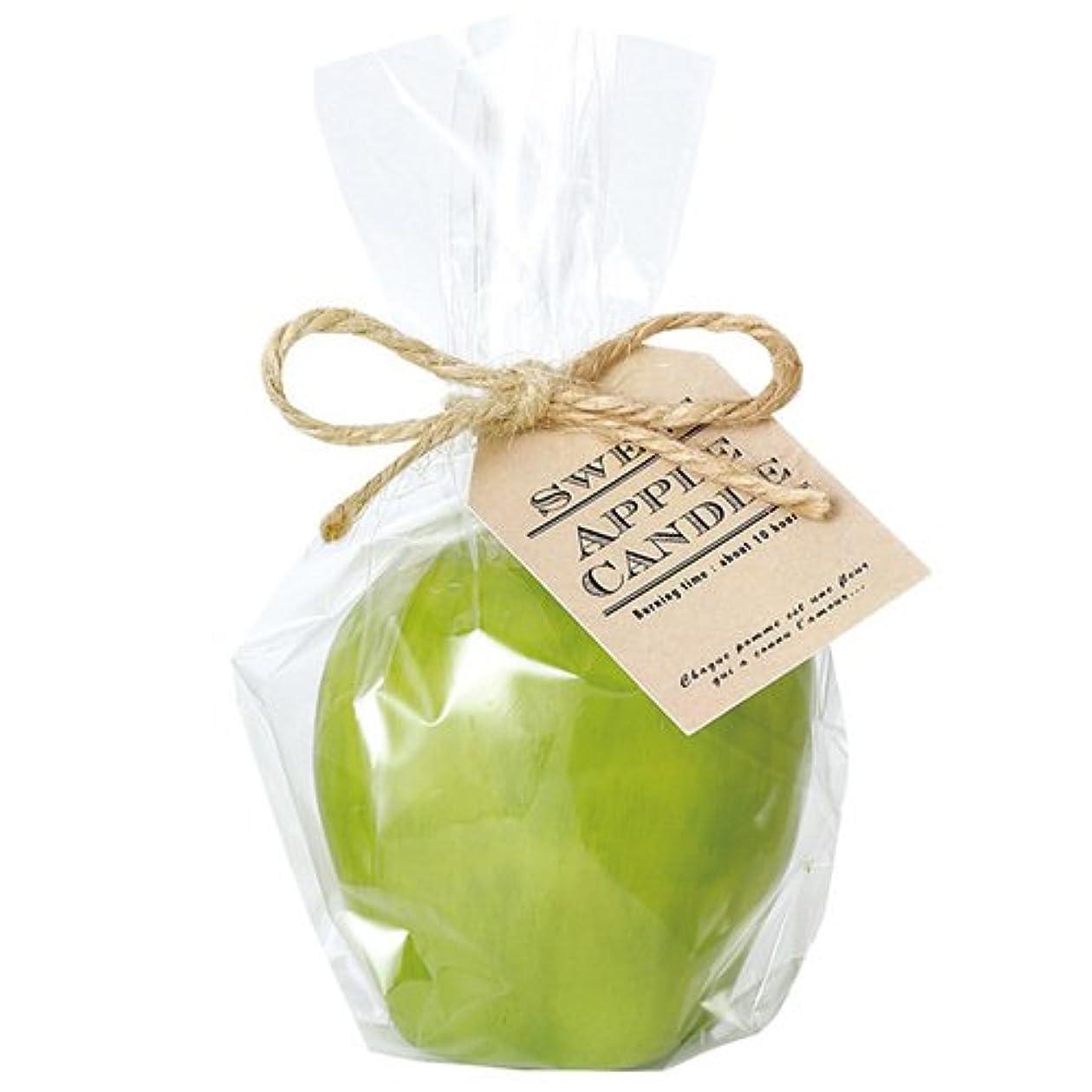 パイプ劣る手書きカメヤマキャンドルハウス スイートアップルキャンドル グリーン アップルの香りつき
