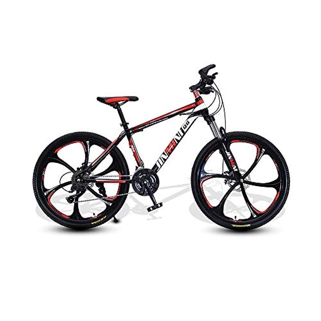 外国人注入する敬なLRHD マウンテン自転車、21/24/27スピード自転車アダルト24/26インチのスポークホイールMTBバイクダブルディスクブレーキ高炭素鋼フレームの複数の可変速度オプションアーバントラックバイク大人のギフト