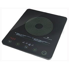 DRETEC 【汚れもサッとひと拭きできるフラットガラスタイプ】 フラットIH調理器 ブラック DI-106BK2