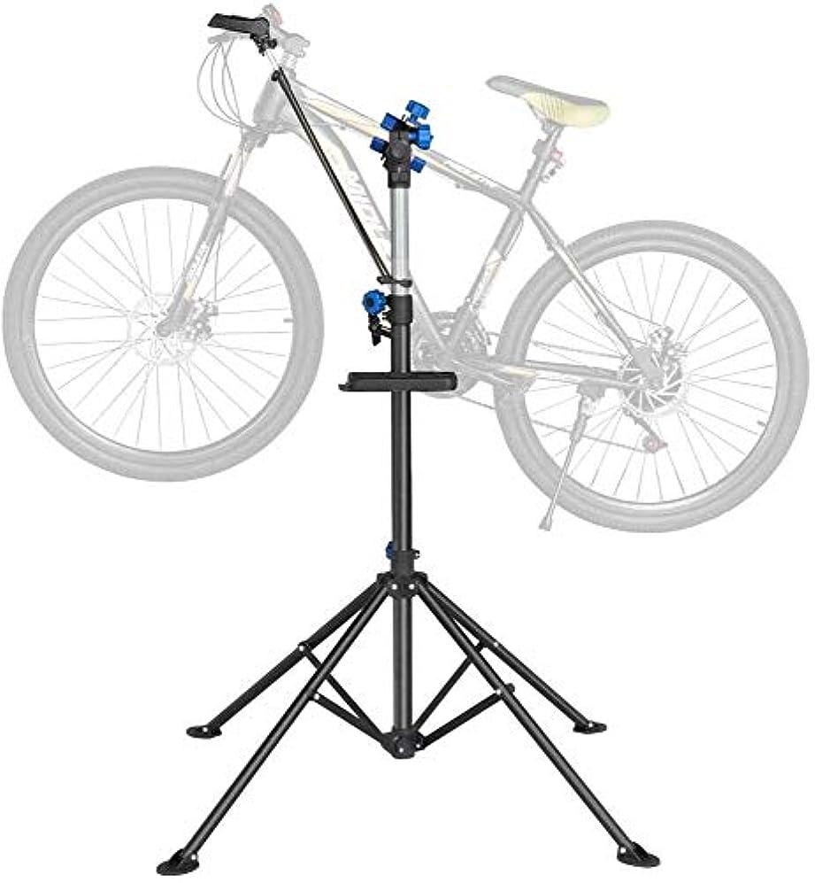 観光に行く美容師自宅ですべてのバイクモデルのためのスタンドを固定Bickcle修復スタンド、自転車修理スタンド、高さ調節可能なクイックリリース伸縮アーム、自転車