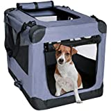 (70cm ) - Dog Soft Crate 70cm Kennel for Pet Indoor Home & Outdoor Use Soft Sided 3 Door Folding Travel Carrier with Straps Arf Pets
