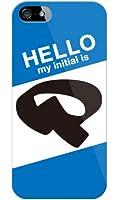 [iPhone 5/au専用] Coverfull スマートフォンケース Cf LTD ハローイニシャル P ブルー (クリア) AAPIP5-PCCL-152-MC86