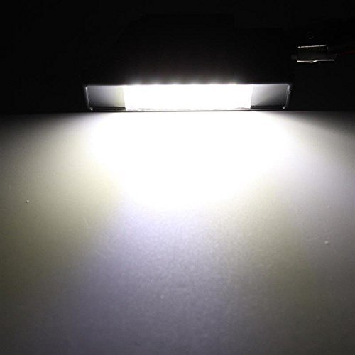 TUINCYN 18SMDライセンスプレートプジョーに普遍的に使用されるLEDライト106 207 307 308 406 407 508スーパーホワイト6000K組立運転灯(2個入り)