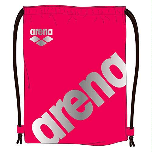 aa1b001d40f arena(アリーナ) プールバッグ 水泳用 マルチバッグ L AEANJA04 Pレッド × シルバー F Lサイズの多目的バッグ。 大きなarenaロゴのスポーティなデザイン。