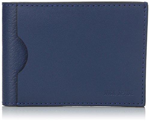 [ジャック・スペード] JACK SPADE 折り財布 GRANT LEATHER INDEX WALLET W6RU0140 408 (BLUE)