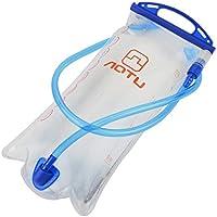 水袋 携帯式給水袋 水膀胱パック防水 アウトドアスポーツハイキング用AOTUポータブル 2Lワイド口ハイドレーションウォーターブラッダーバッグ 水分補給 清掃便利 高品質 水筒
