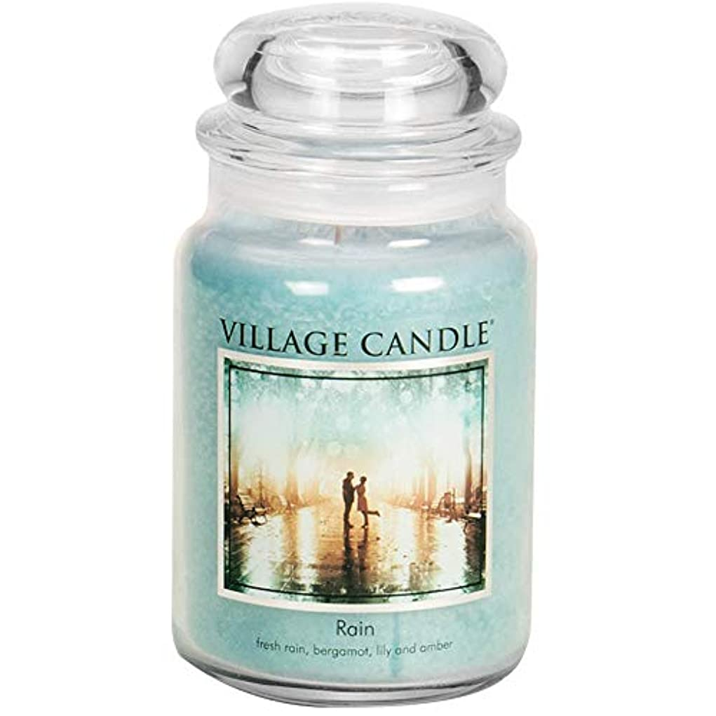 促進する苦味挑発するVillage Candle 106326811 Candle Rain Blue by Village Candle