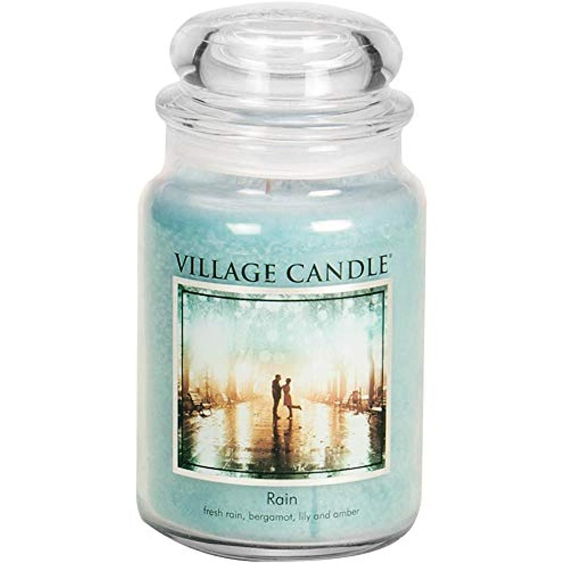 決定的コンデンサー窒素Village Candle 106326811 Candle Rain Blue by Village Candle