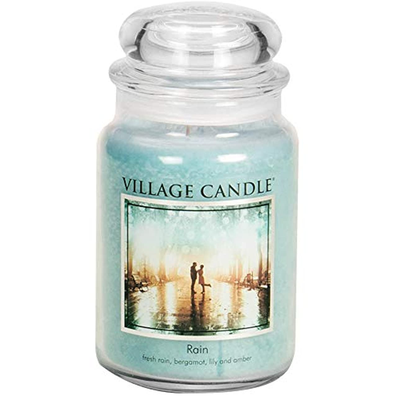 勤勉過度にしなやかなVillage Candle 106326811 Candle Rain Blue by Village Candle