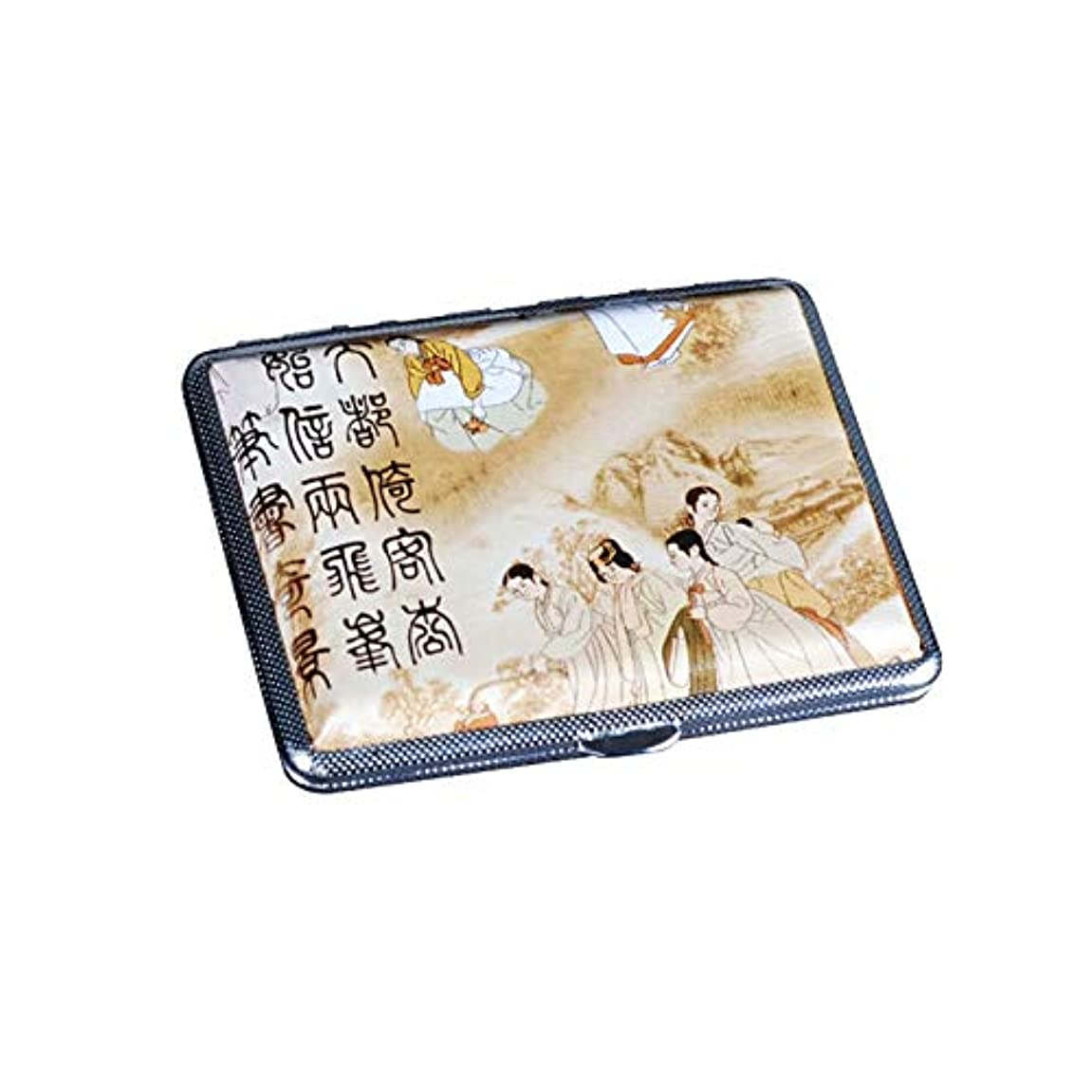 ブルゴーニュ改修図書館8HAOWENJU シガレットボックス、自動ビジネス統合、メンズクリエイティブレザーシガレットケース、14/16/18スティック、高品質 最新モデル (Size : 18 sticks)