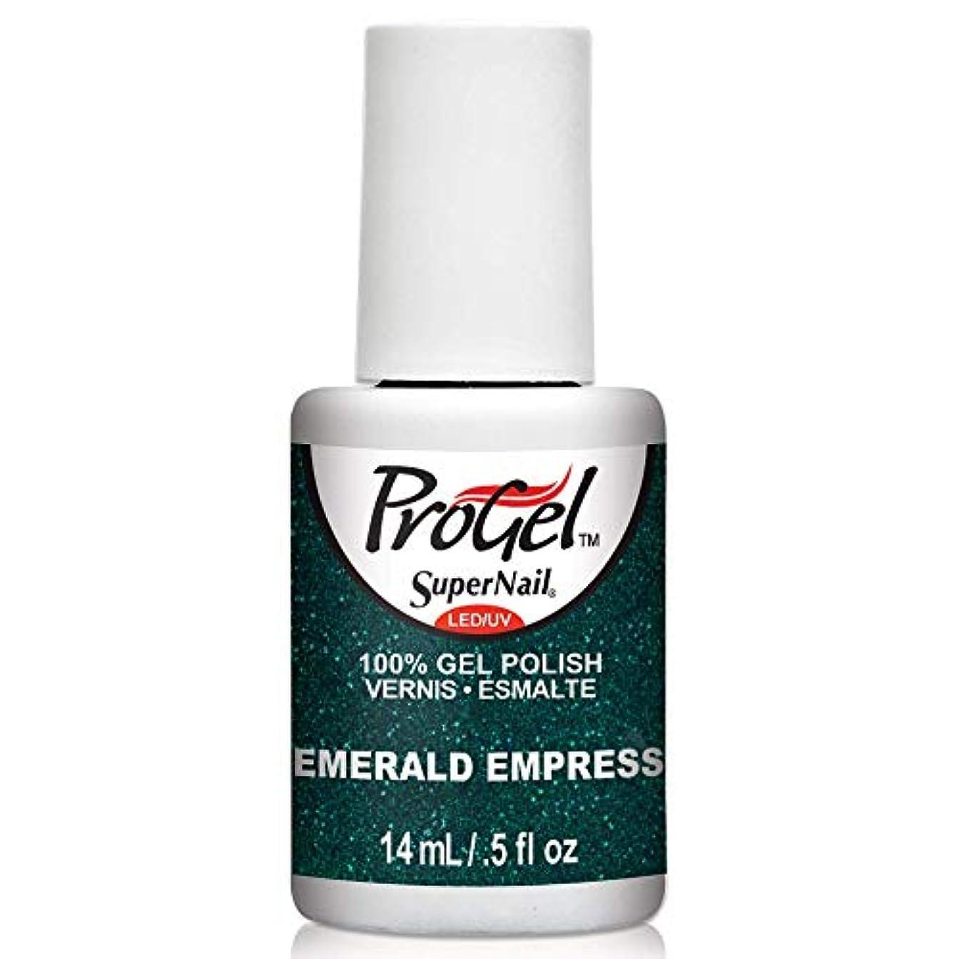 怠な衝突抑圧SuperNail ProGel Gel Polish - Emerald Empress - 0.5oz/14ml